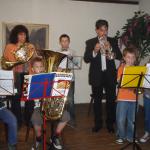 Auftritte der Jungbläser - unterstützt von Gattin Marianna